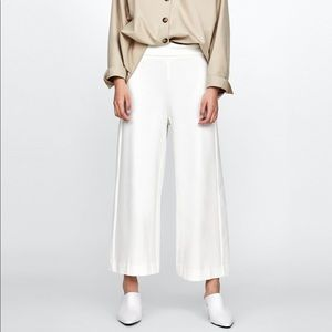 White Culottes with darts